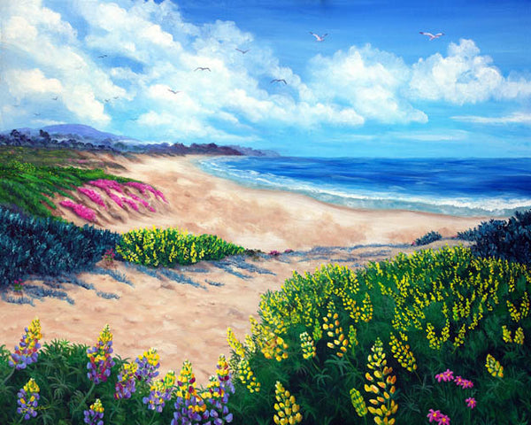 Half Moon Bay In Bloom Original Painting