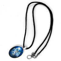 White Dragon In Midnight Blue Oval Pendant Laura Milnor Iverson Official Site