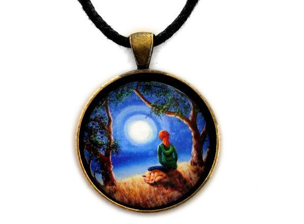 Fox Spirit Meditation Handmade Pendant Laura Milnor Iverson Official Site
