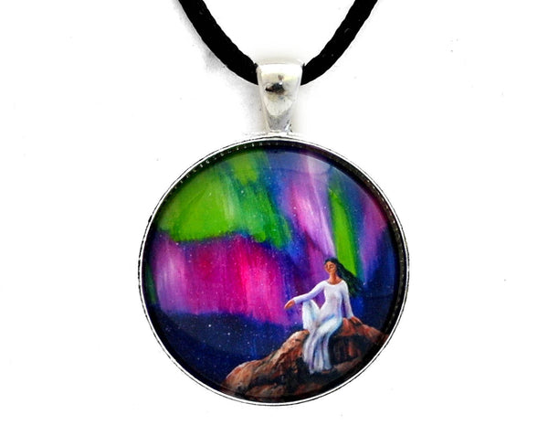 The Aurora of Compassion Handmade Pendant Laura Milnor Iverson Official Site