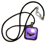 Whale Tail in Lavender Moonlight Handmade Pendant