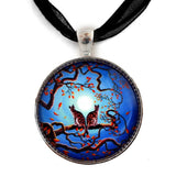 Brothers Under a Blue Moon Handmade Pendant