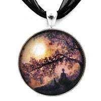 Contemplation Beneath the Boughs Handmade Pendant