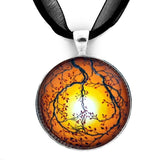 Autumn Peace Handmade Pendant - Laura Milnor Iverson Official Site
