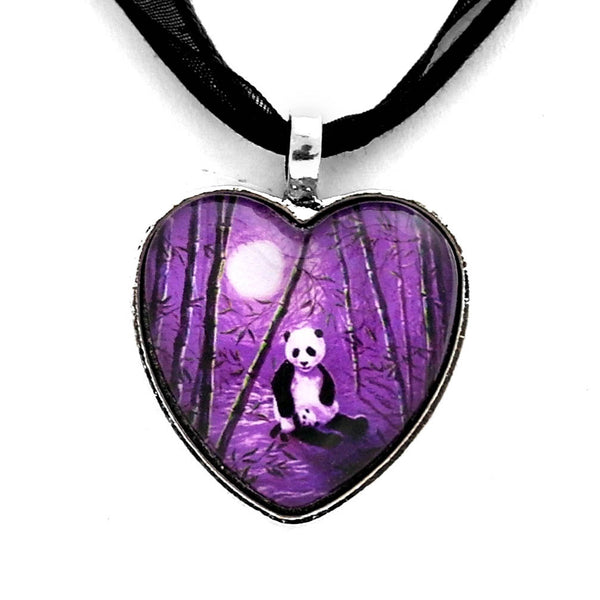 Purple Lullaby Handmade Heart Pendant - Laura Milnor Iverson Official Site