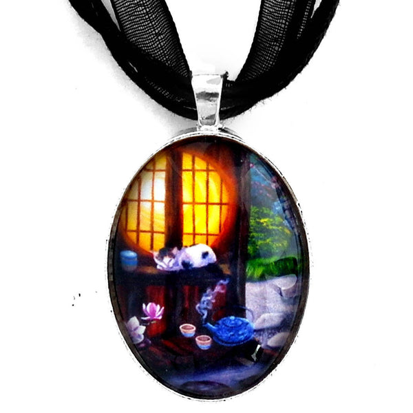 Sunrise in Moon Window Handmade Pendant Laura Milnor Iverson Official Site