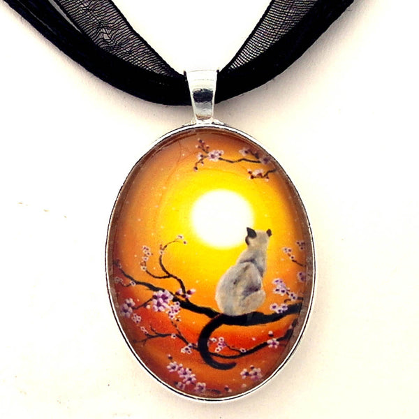 Golden Afternoon Sakura Handmade Pendant