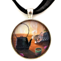 Morning Cup of Tea Handmade Pendant Laura Milnor Iverson Official Site