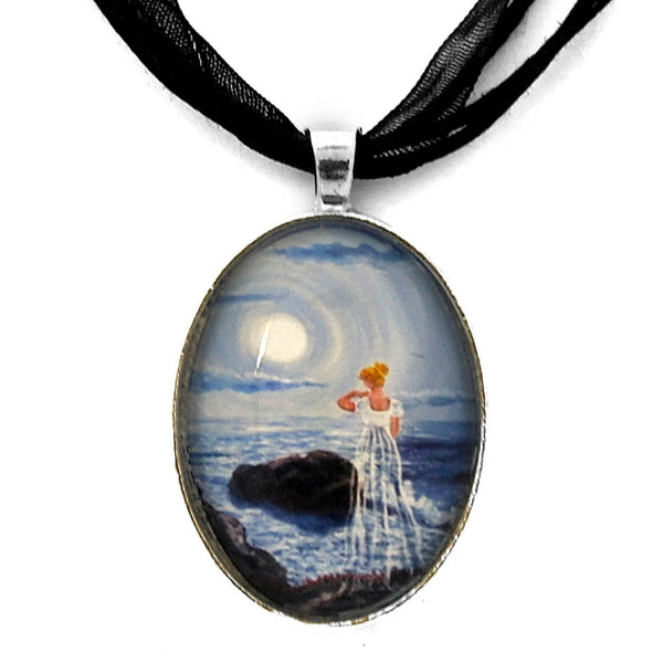 Annabel by the Sounding Sea Handmade Pendant