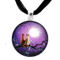 Plum Blossoms in Pale Moonlight Handmade Pendant
