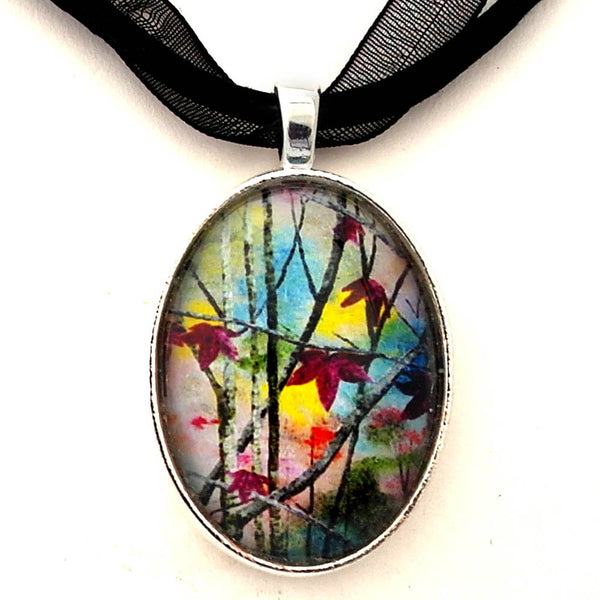Autumn Leaves Handmade Pendant Necklace - Laura Milnor Iverson Official Site