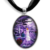 Lenore in Lavender Handmade Pendant Laura Milnor Iverson Official Site