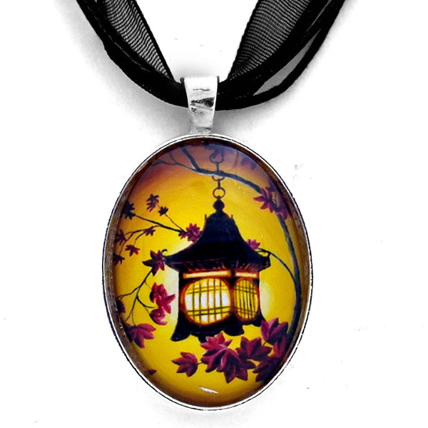 Lantern in Golden Glow Handmade Pendant Laura Milnor Iverson Official Site