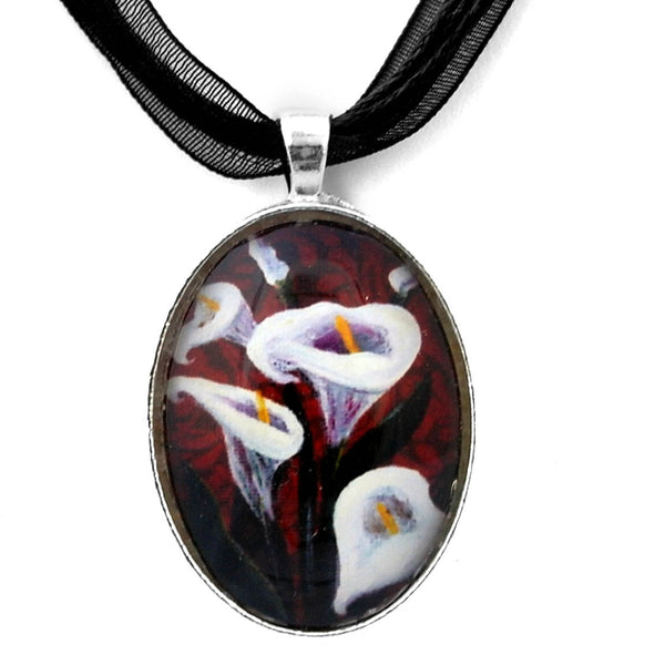Gothic Calla Lilies Handmade Pendant Laura Milnor Iverson Official Site