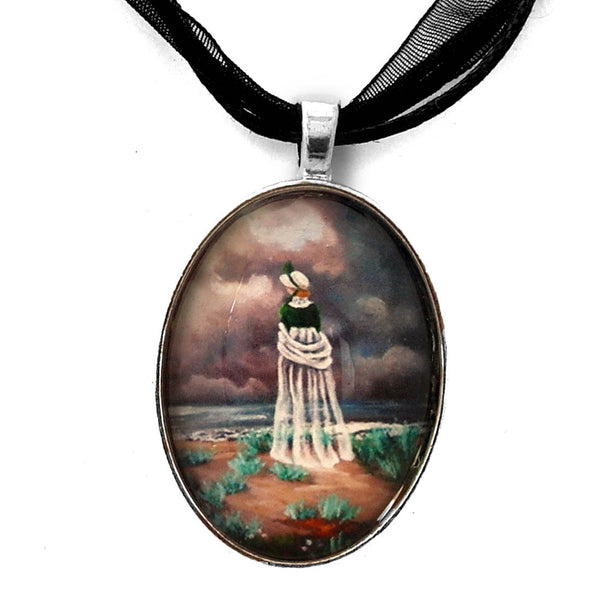 A Stroll Upon the Dunes Handmade Pendant - Laura Milnor Iverson Official Site