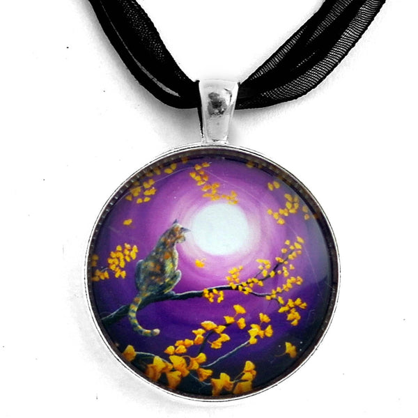 The Moon Shone Upon Me Handmade Pendant