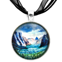 Misty Yosemite Valley Handmade Pendant
