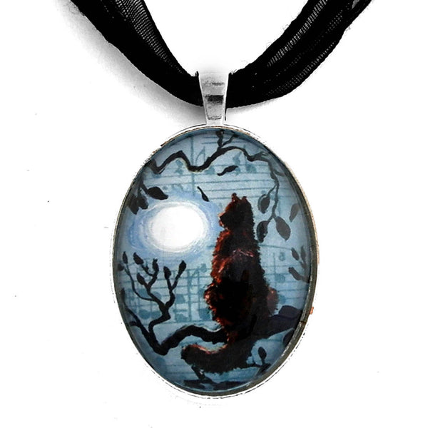 Midnight Rhapsody in Blue Handmade Pendant