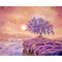 Meditating Under a Jacaranda Tree Original Painting
