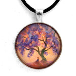 Meditating Under a Jacaranda Tree Handmade Pendant Laura Milnor Iverson Official Site
