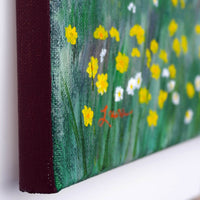 Spring Daisies at Los Gatos Lake Original Painting - Laura Milnor Iverson Official Site