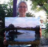 Los Gatos Lake Original Oil Painting