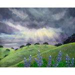 Lupines After a Spring Storm Original Painting - Laura Milnor Iverson Official Site