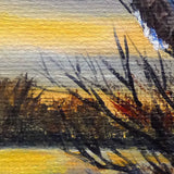 Bald Eagle in Wetlands Original Mini Painting on Easel
