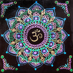 Om Mandala Original Mini Painting on Easel