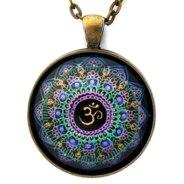 Om Mandala Pendant Necklace - Laura Milnor Iverson Official Site