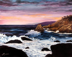 Monterey Sunrise Original Oil Painting - Laura Milnor Iverson Official Site