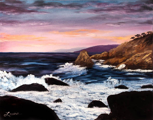 Monterey Sunrise Original Oil Painting