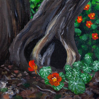 Nasturtiums on a Spring Morning Original Painting