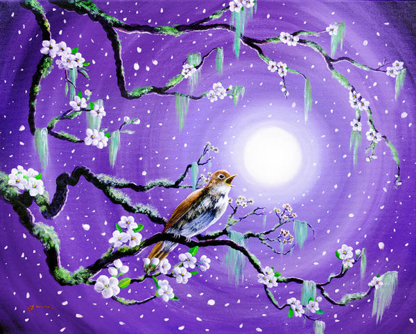Singing Her Melody to the Night Original Painting