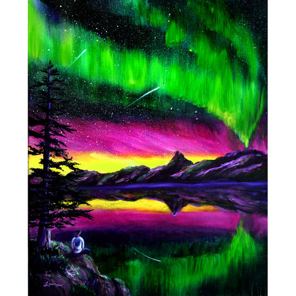 Magical Night Meditation Original Painting - Laura Milnor Iverson Official Site