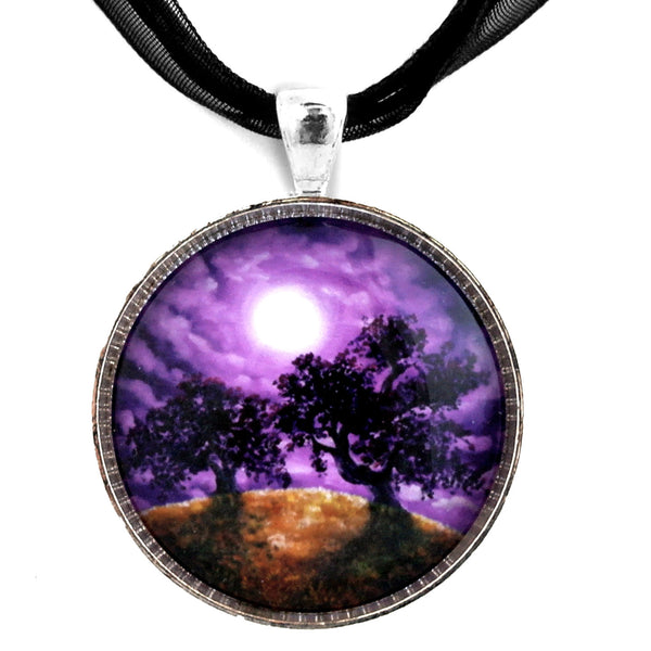 Dreaming of Oak Trees Handmade Pendant Laura Milnor Iverson Official Site