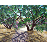Walking Through The Oak Trees On A Sunny Day Original Painting - Laura Milnor Iverson Official Site