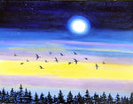 Geese at Twilight Original Painting