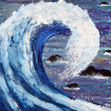 Blue Wave Original Painting - Laura Milnor Iverson Official Site