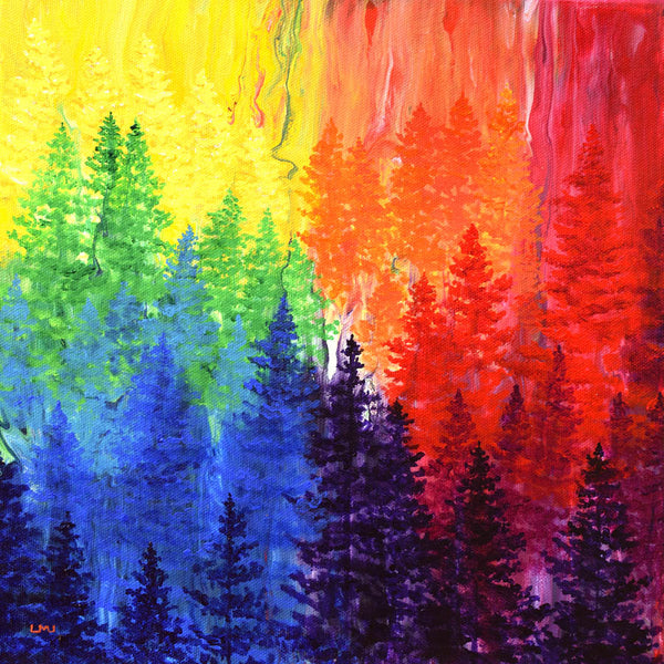 An Owl Lives in the Chakra Forest Original Painting
