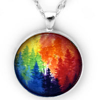 The Chakra Forest Pendant Necklace - Laura Milnor Iverson Official Site