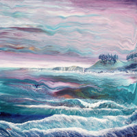 Waves at Depoe Bay Original Painting - Laura Milnor Iverson Official Site