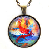 Fire and Ice Dragons Handmade Pendant Laura Milnor Iverson Official Site