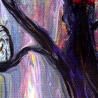 Tawny Owls and Bright Eyes Original Painting Laura Milnor Iverson Official Site