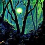 Forest in Deep Green Moonlight Original Painting