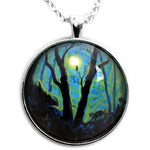 Forest in Deep Green Moonlight Pendant Necklace - Laura Milnor Iverson Official Site