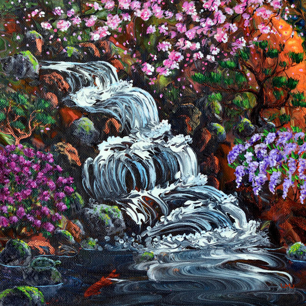 Secret Waterfall Original Painting Laura Milnor Iverson Official Site