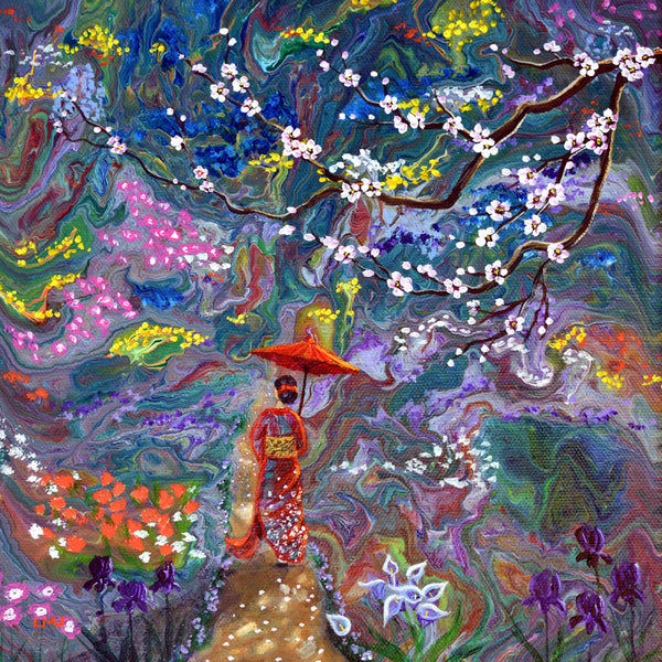 Stroll Through a Mystic Garden Original Painting - NFS- Laura Milnor Iverson Official Site