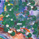 Koi Pond and Water Lilies Dream Original Painting - SOLD - Prints Available