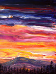 Sunset Over Mary's Peak Original Painting Laura Milnor Iverson Official Site